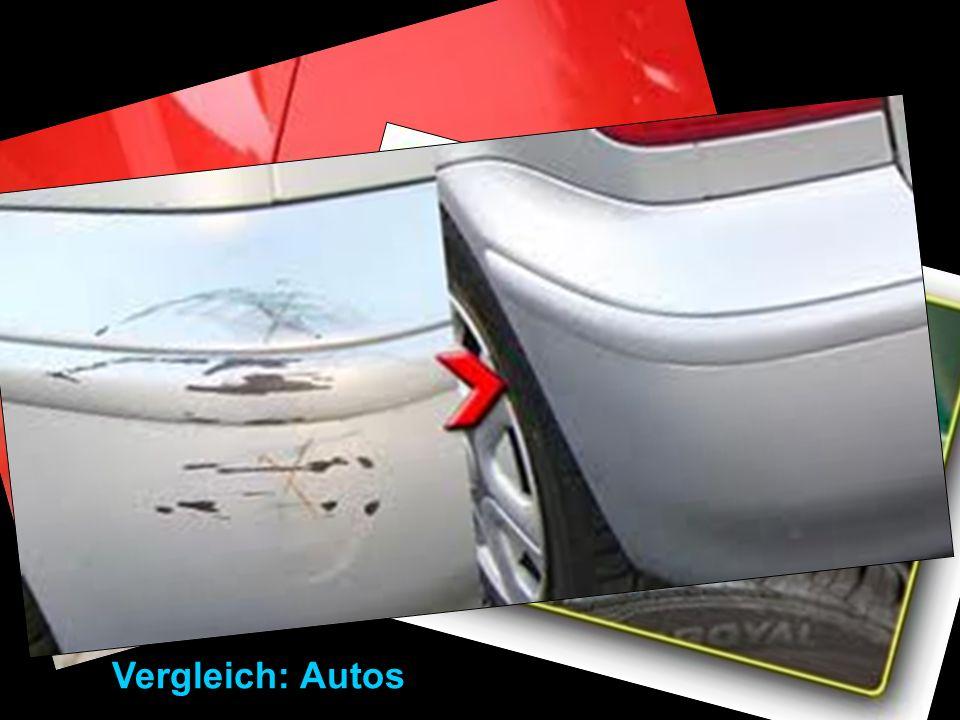 Vergleich: Autos Vergleich mit Autos: Lackschaden