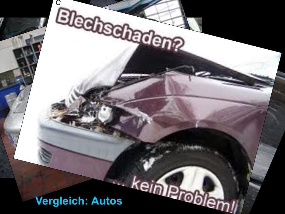 Vergleich: Autos C Vergleich mit Autos: Karosserieschaden