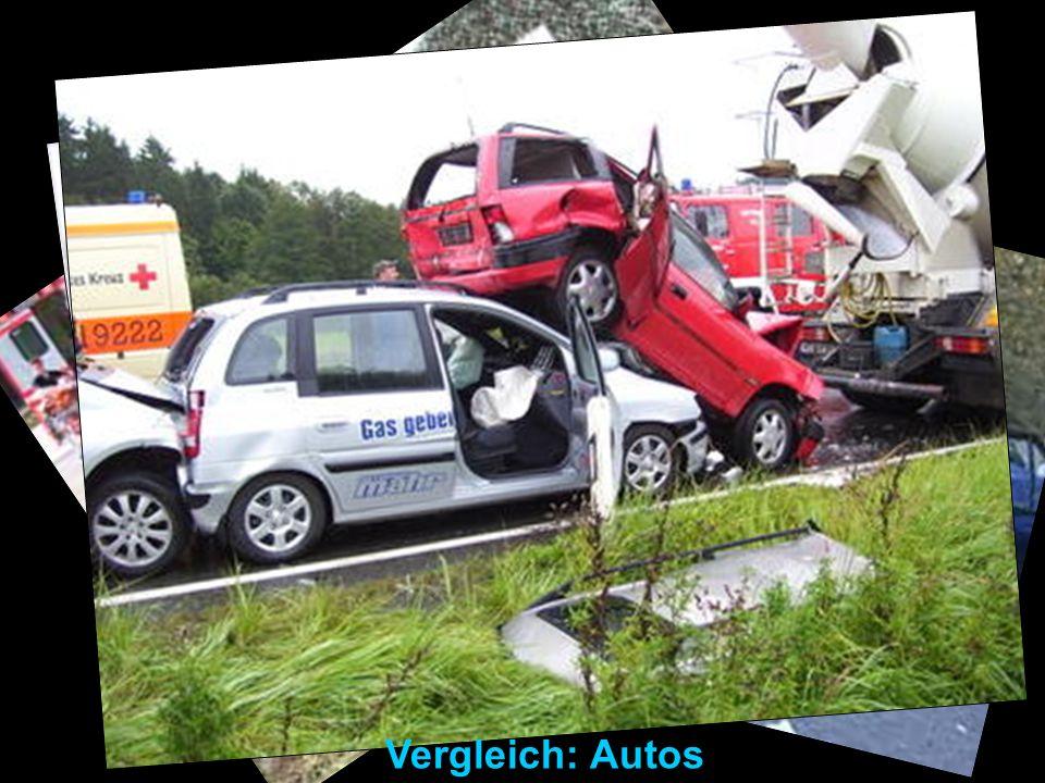 Vergleich: Autos Vergleich mit Autos: Totalschaden