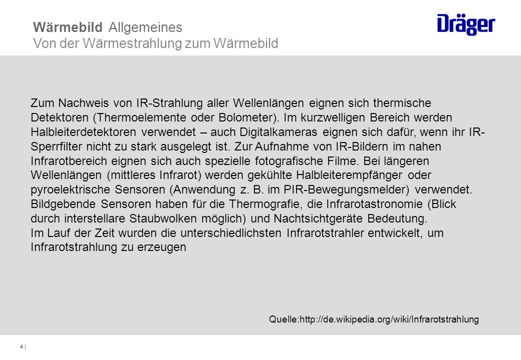 Wärmebild Allgemeines Von der Wärmestrahlung zum Wärmebild