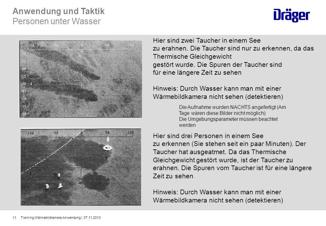 Anwendung und Taktik Personen unter Wasser