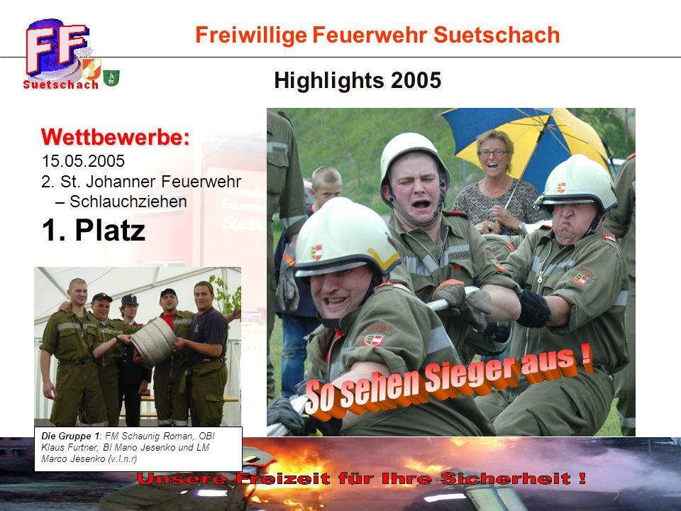So sehen Sieger aus ! 1. Platz Highlights 2005 Wettbewerbe: 15.05.2005