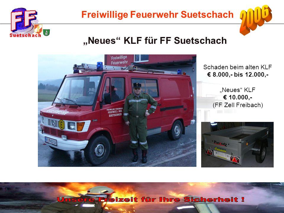 """""""Neues KLF für FF Suetschach"""