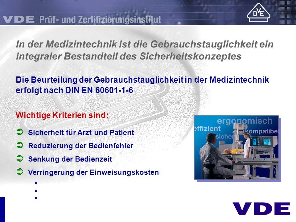 In der Medizintechnik ist die Gebrauchstauglichkeit ein integraler Bestandteil des Sicherheitskonzeptes