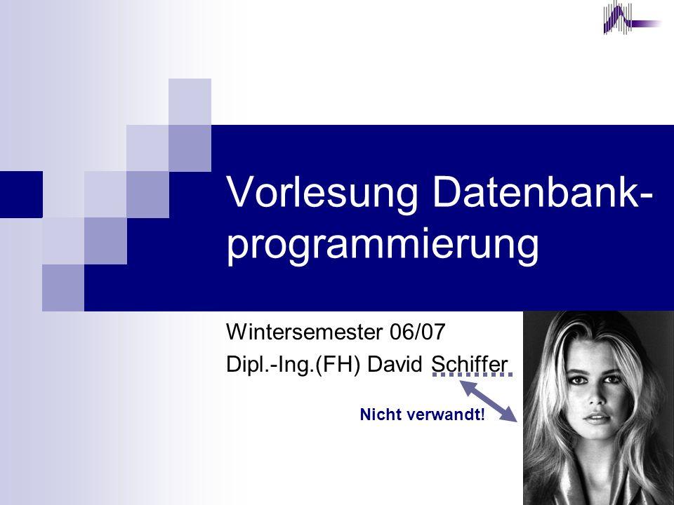 Vorlesung Datenbank-programmierung