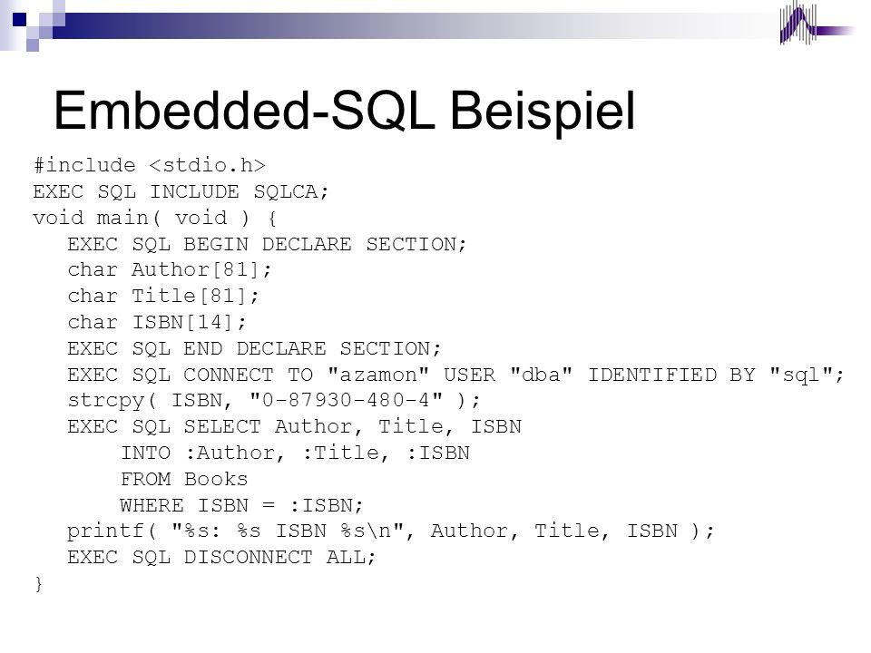 Embedded-SQL Beispiel