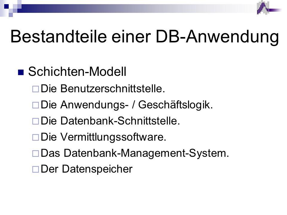 Bestandteile einer DB-Anwendung