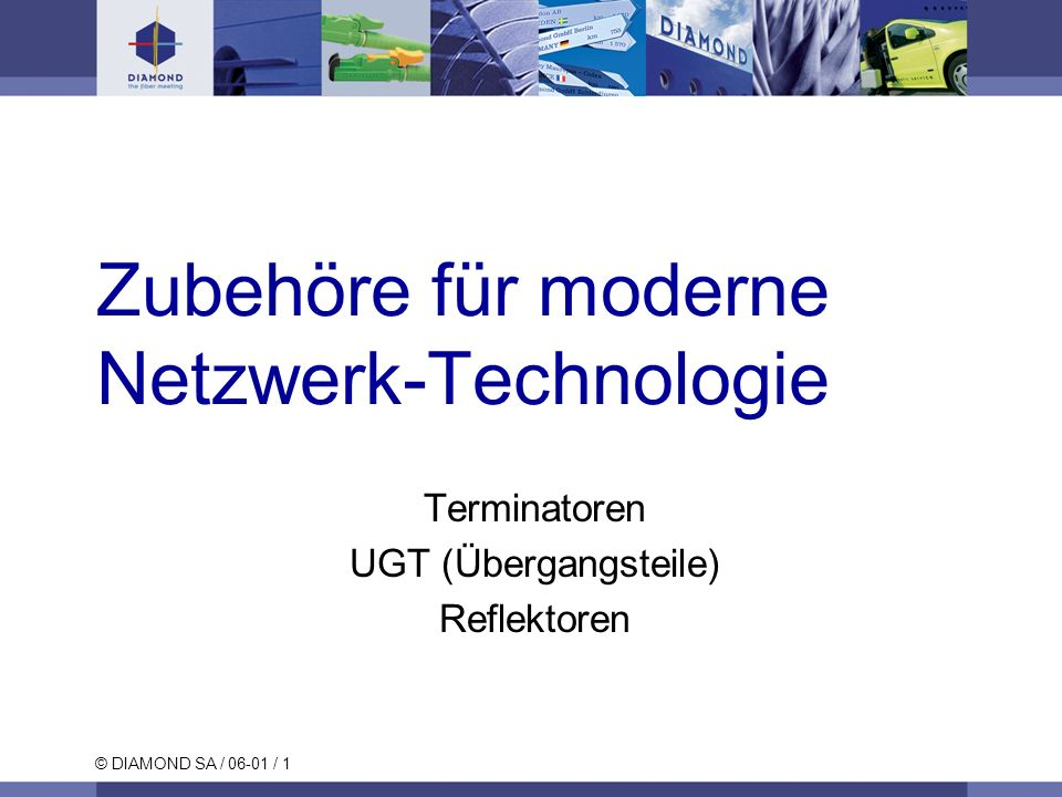 Zubehöre für moderne Netzwerk-Technologie