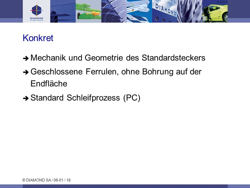 Konkret Mechanik und Geometrie des Standardsteckers