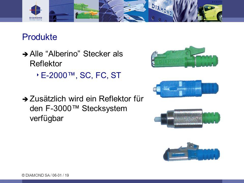Produkte Alle Alberino Stecker als Reflektor E-2000™, SC, FC, ST