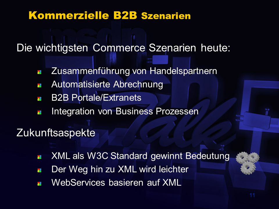 Kommerzielle B2B Szenarien