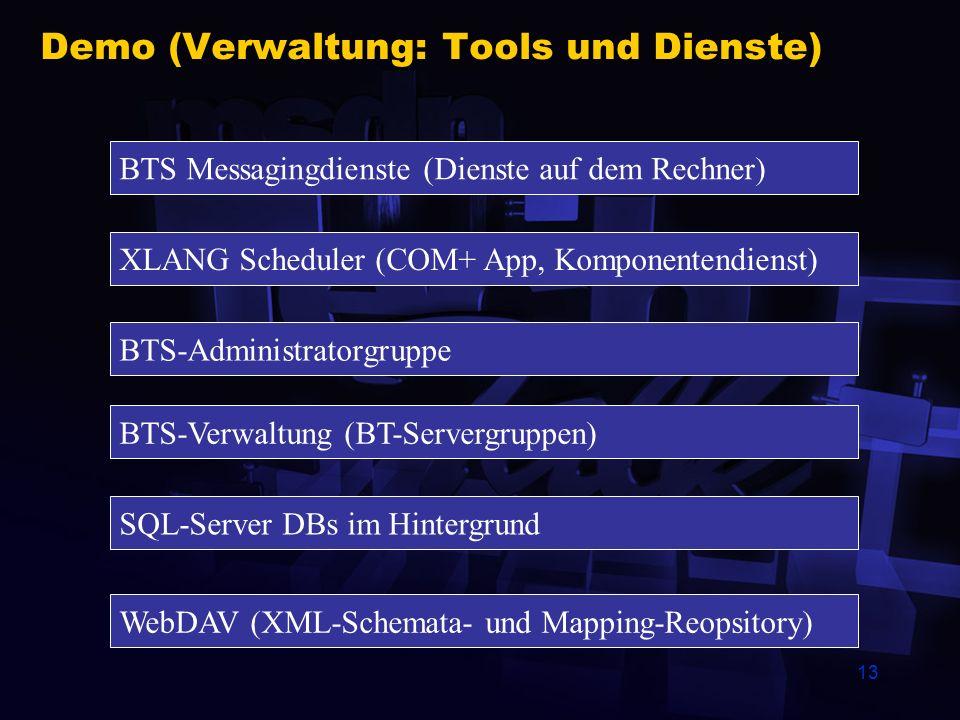Demo (Verwaltung: Tools und Dienste)