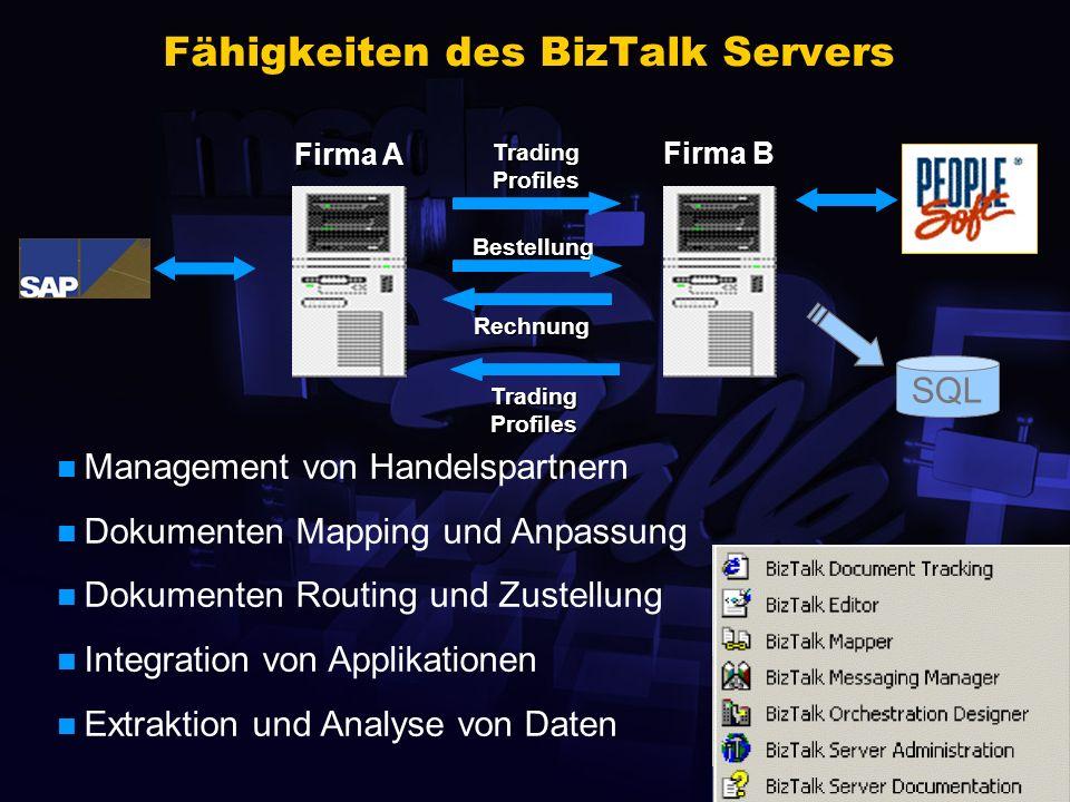 Fähigkeiten des BizTalk Servers