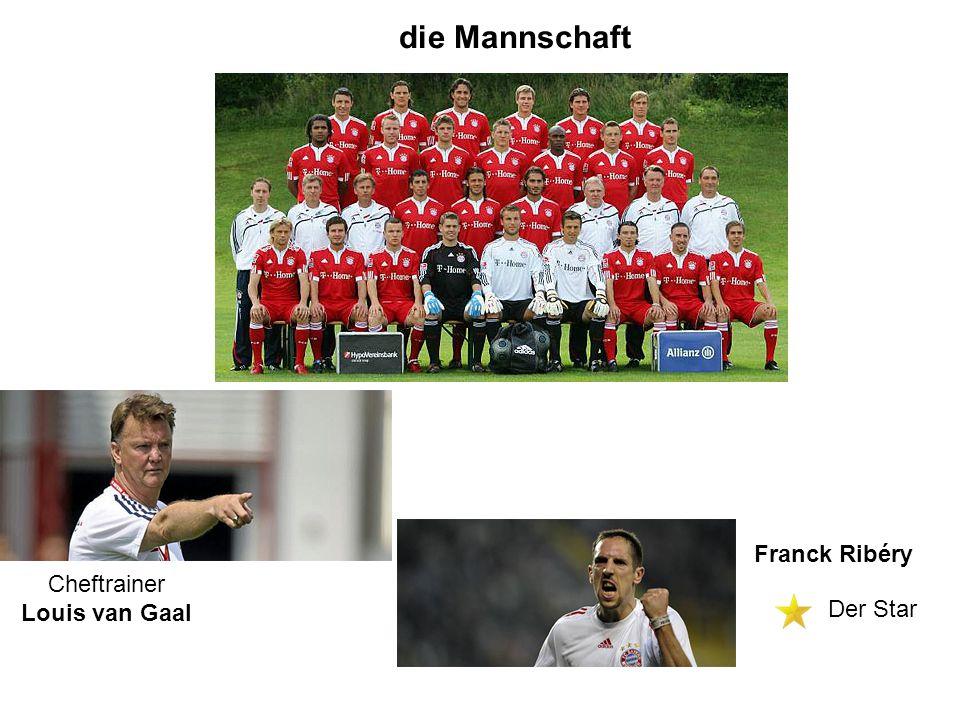 die Mannschaft Franck Ribéry Cheftrainer Louis van Gaal Der Star