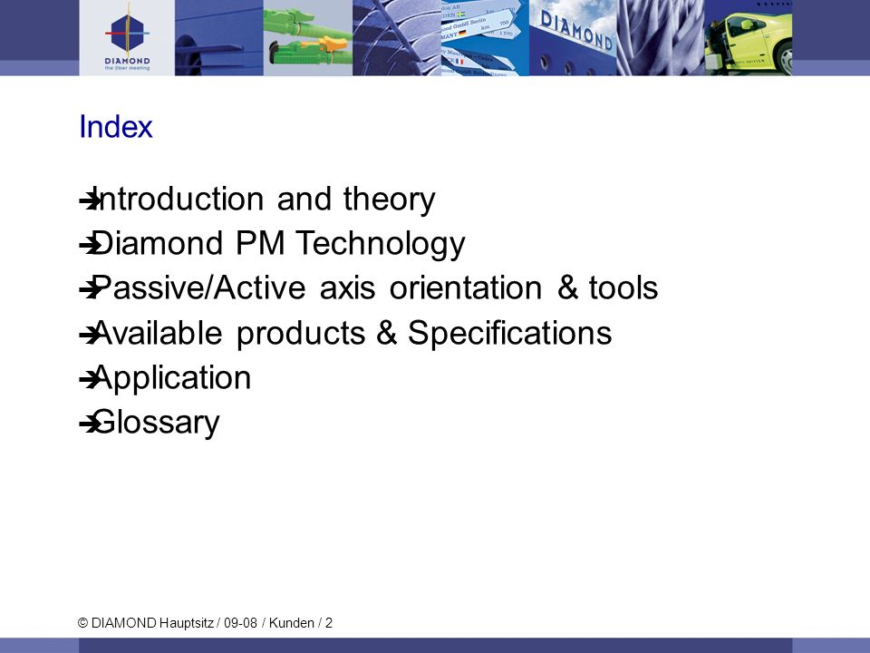Introduction and theory Diamond PM Technology