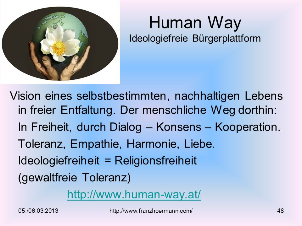 Human Way Ideologiefreie Bürgerplattform