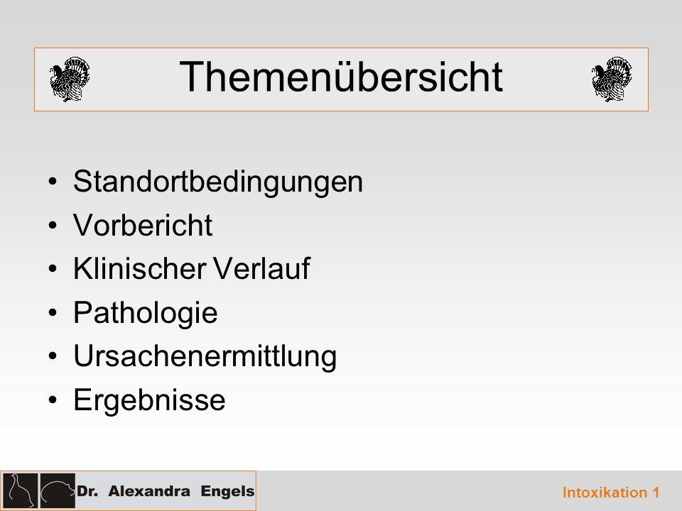 Themenübersicht Standortbedingungen Vorbericht Klinischer Verlauf