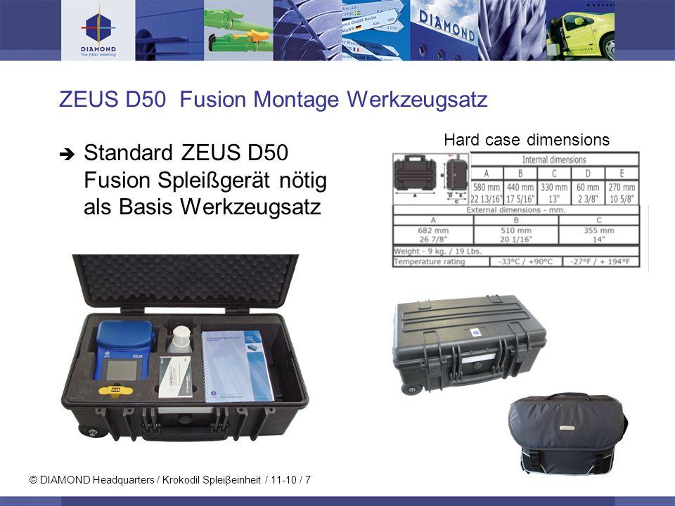 ZEUS D50 Fusion Montage Werkzeugsatz