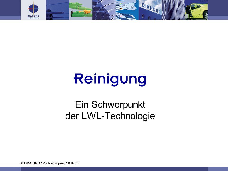 Reinigung Ein Schwerpunkt der LWL-Technologie