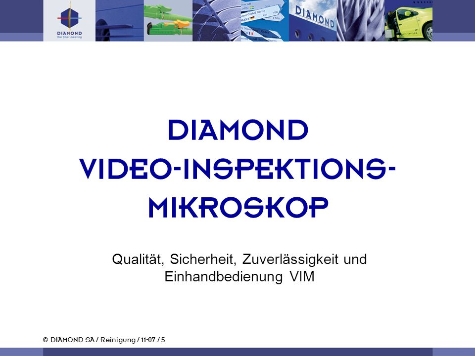 DIAMOND VIDEO-INSPEKTIONS- MIKROSKOP