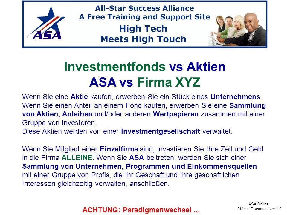Investmentfonds vs Aktien ACHTUNG: Paradigmenwechsel ...