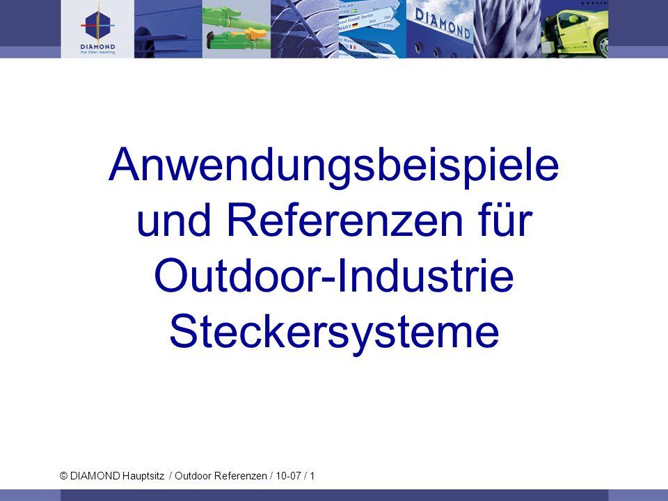 Anwendungsbeispiele und Referenzen für Outdoor-Industrie Steckersysteme