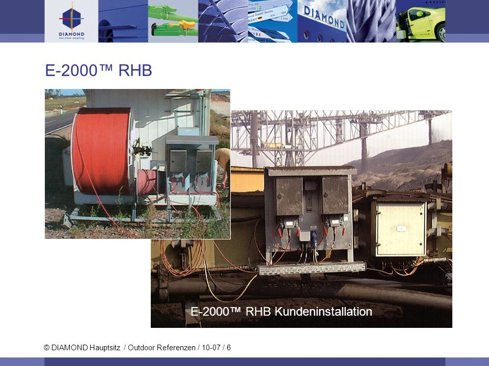 E-2000™ RHB Kundeninstallation