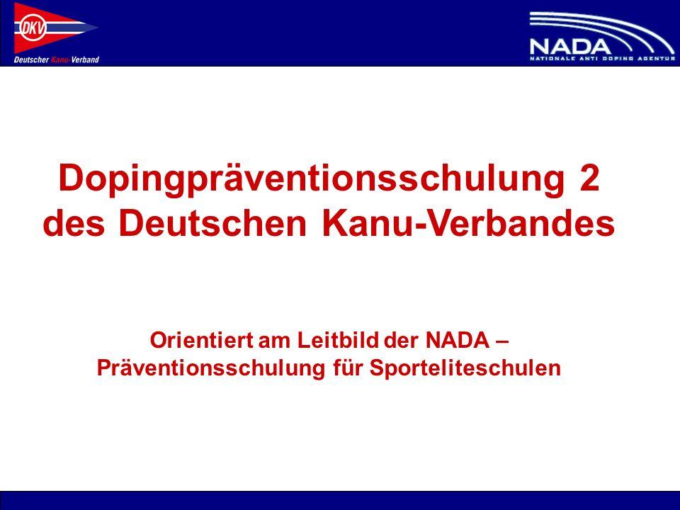 Dopingpräventionsschulung 2 des Deutschen Kanu-Verbandes