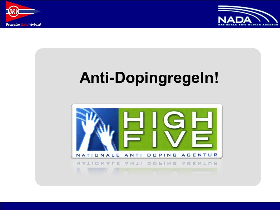 Anti-Dopingregeln!