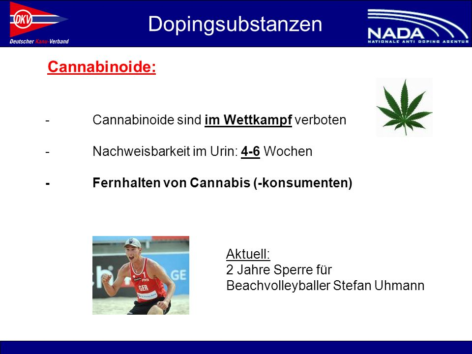 Dopingsubstanzen Cannabinoide:
