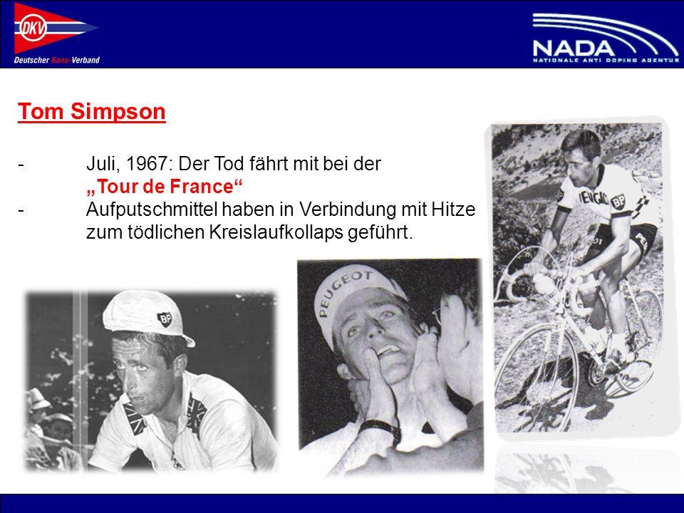 """Tom Simpson - Juli, 1967: Der Tod fährt mit bei der """"Tour de France"""