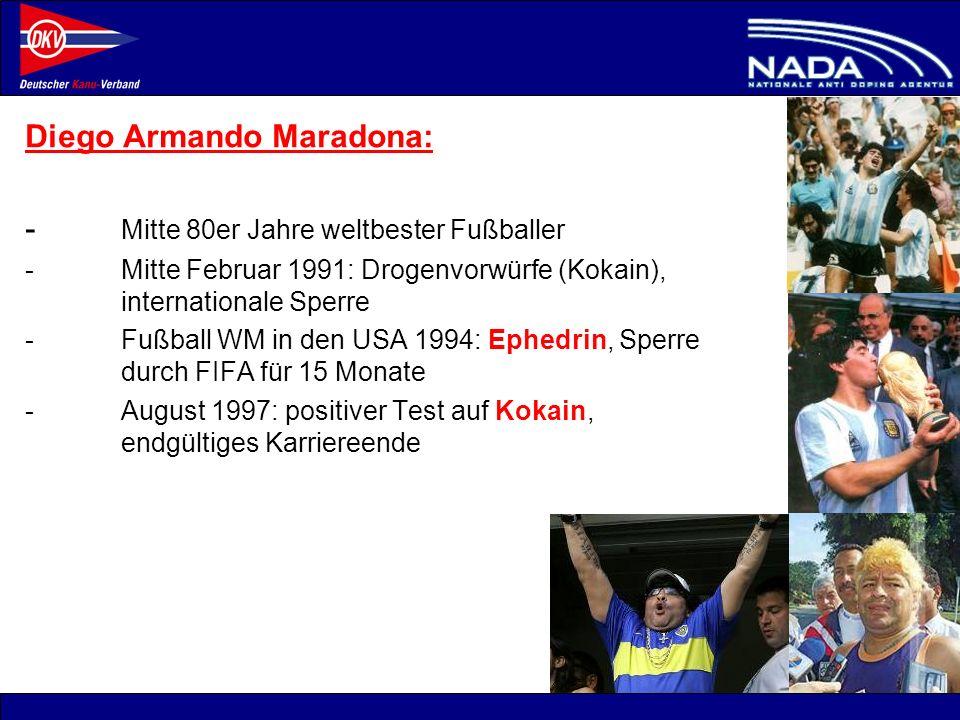 Diego Armando Maradona: - Mitte 80er Jahre weltbester Fußballer