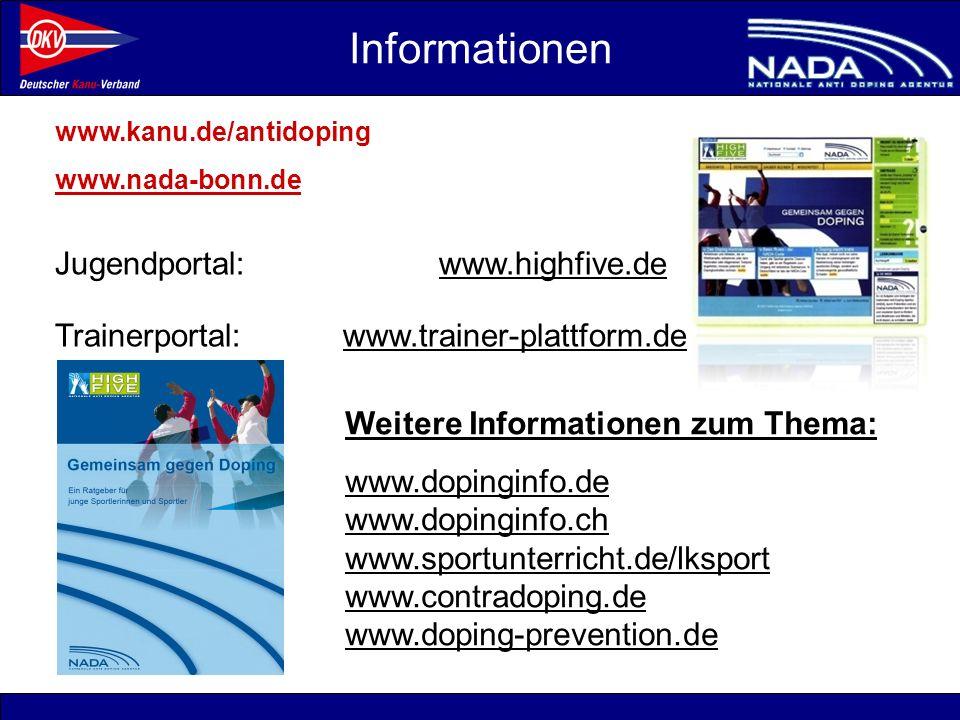 Informationen Trainerportal: www.trainer-plattform.de