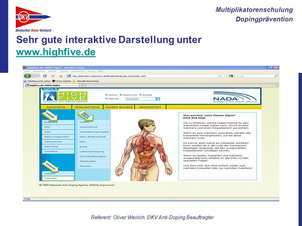 Sehr gute interaktive Darstellung unter www.highfive.de