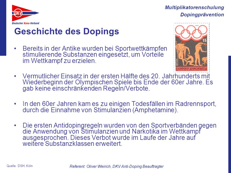 Geschichte des Dopings