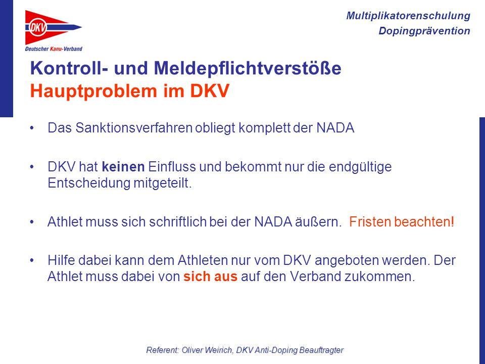 Kontroll- und Meldepflichtverstöße Hauptproblem im DKV