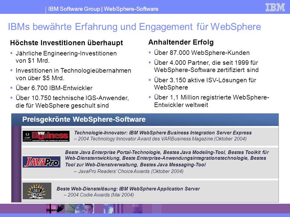 IBMs bewährte Erfahrung und Engagement für WebSphere