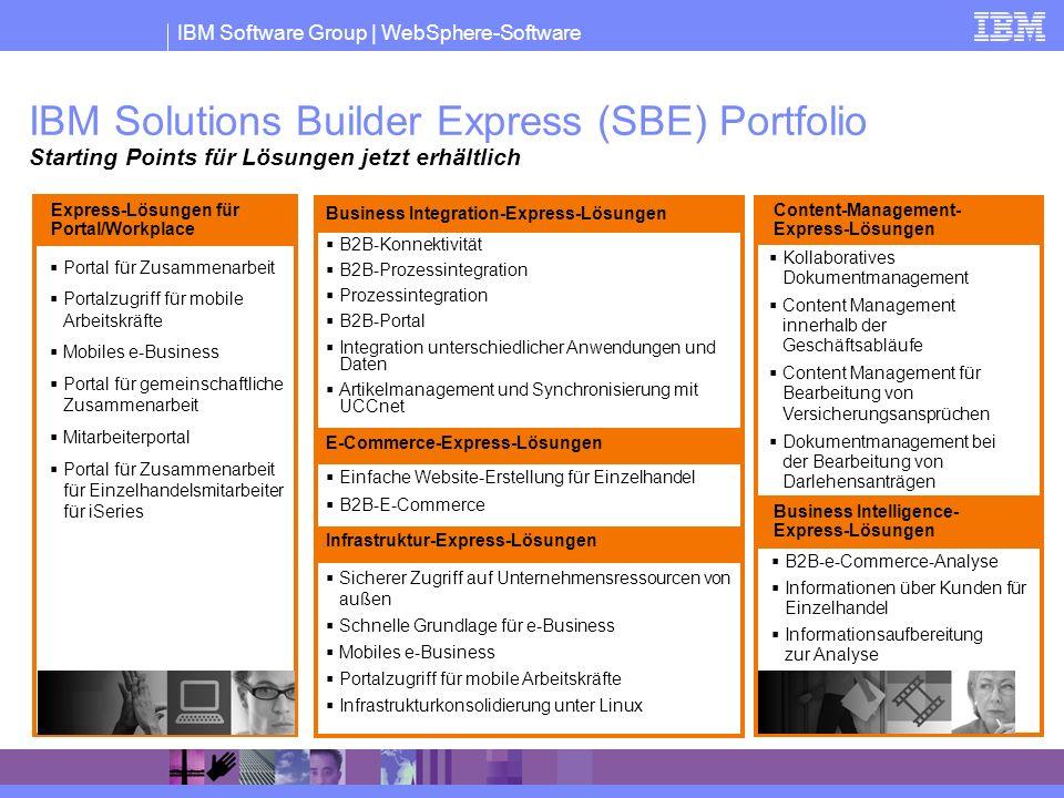 IBM Solutions Builder Express (SBE) Portfolio Starting Points für Lösungen jetzt erhältlich