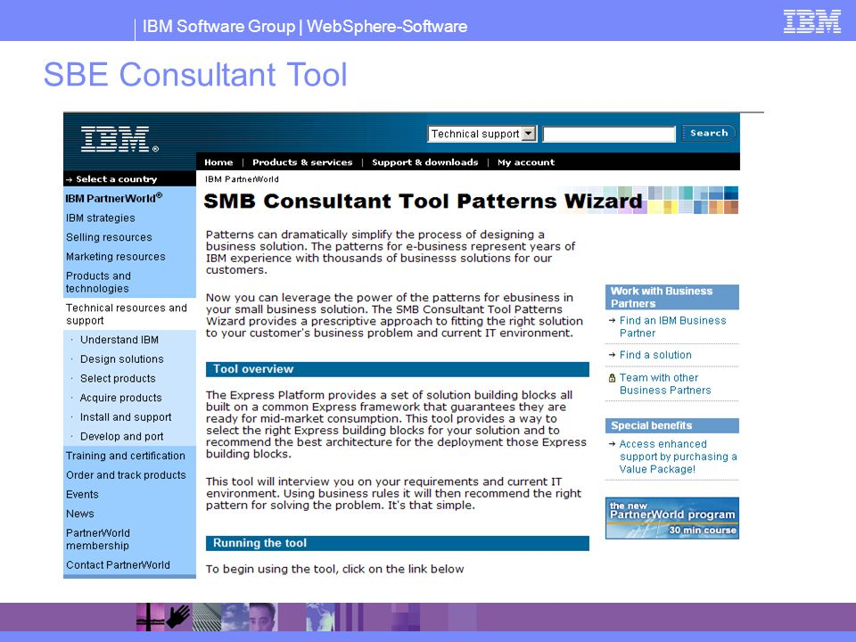 SBE Consultant Tool