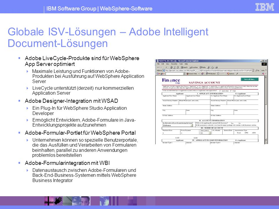 Globale ISV-Lösungen – Adobe Intelligent Document-Lösungen