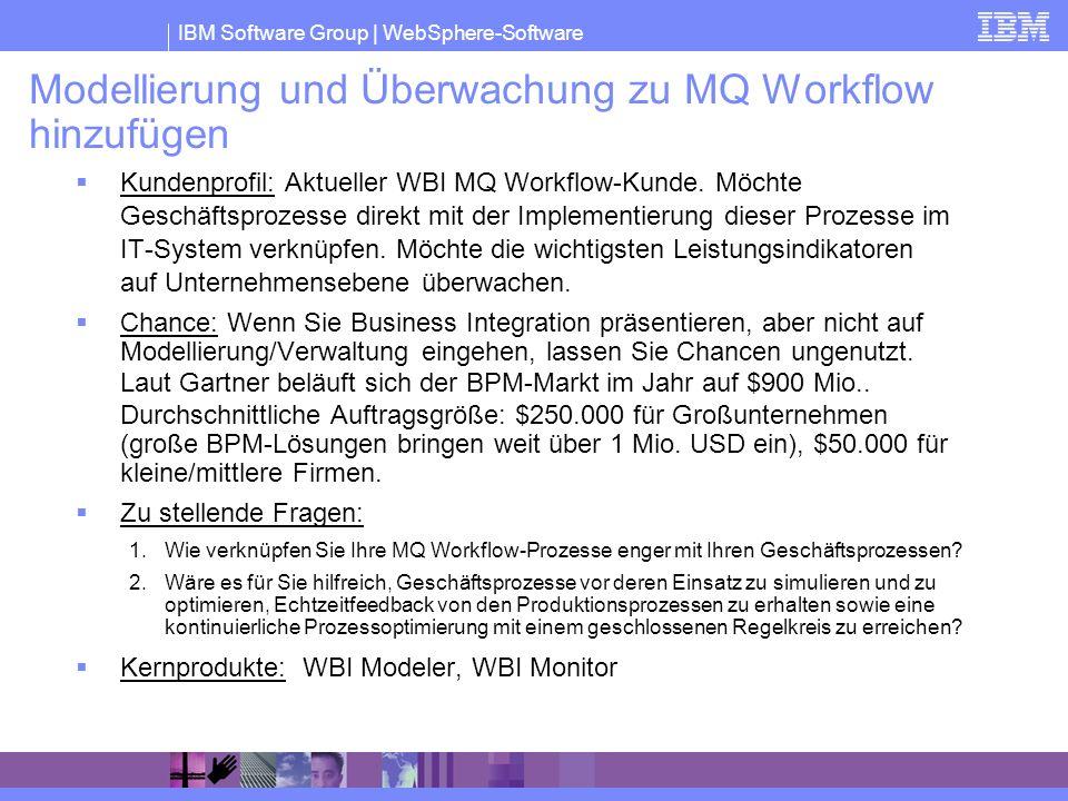 Modellierung und Überwachung zu MQ Workflow hinzufügen