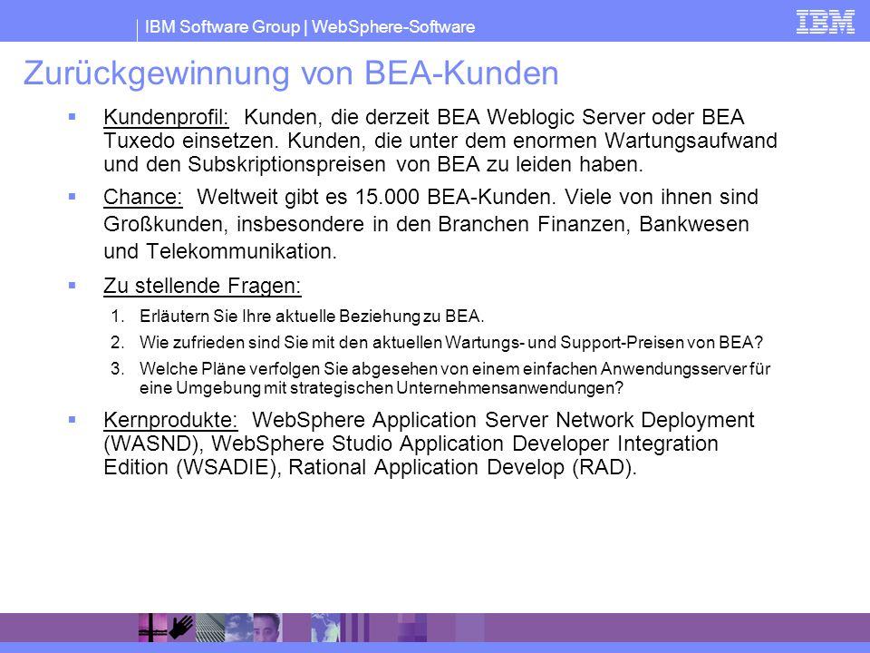 Zurückgewinnung von BEA-Kunden