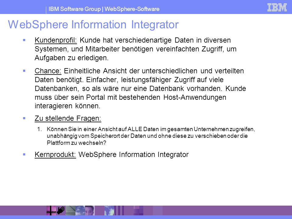 WebSphere Information Integrator