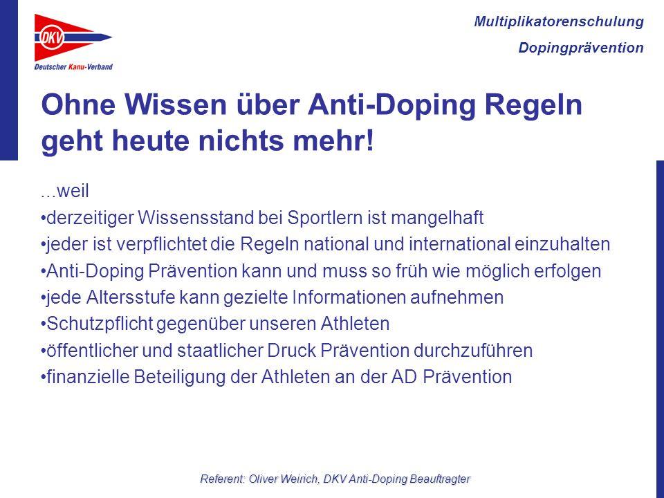 Ohne Wissen über Anti-Doping Regeln geht heute nichts mehr!