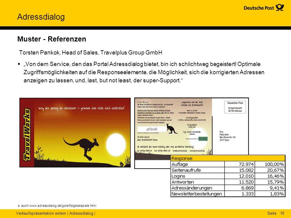 Muster - Referenzen Torsten Pankok, Head of Sales, Travelplus Group GmbH.