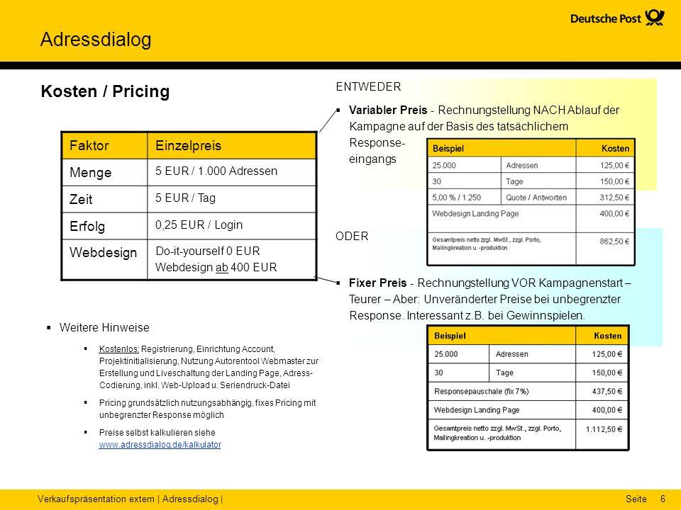 Kosten / Pricing Faktor Einzelpreis Menge Zeit Erfolg Webdesign