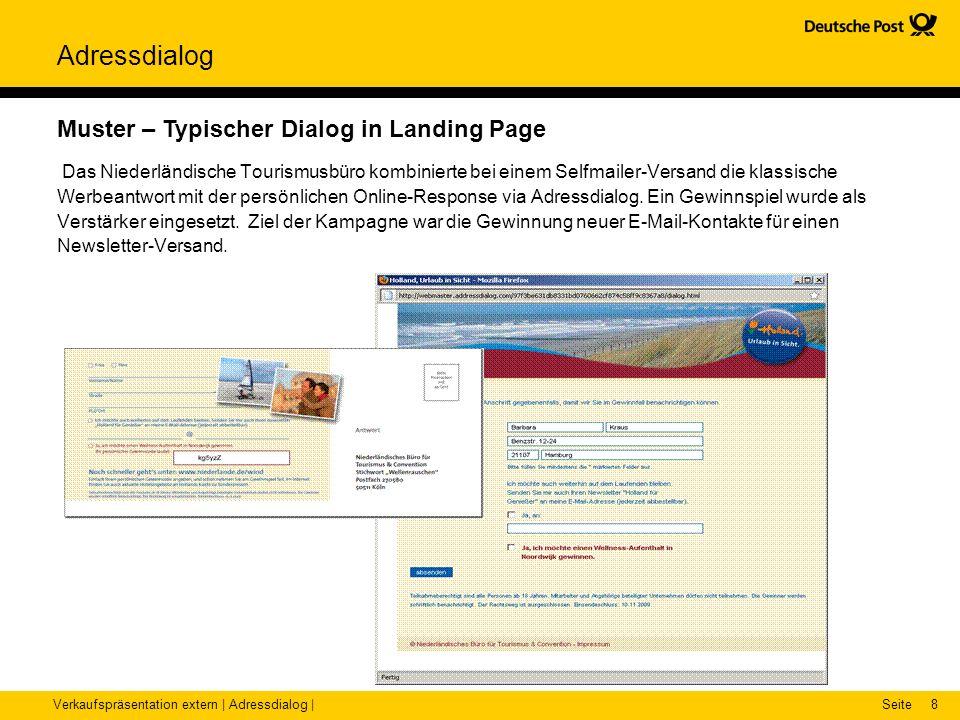Muster – Typischer Dialog in Landing Page