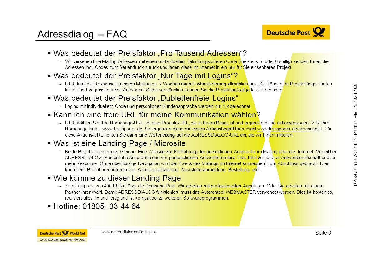 """Adressdialog – FAQ Was bedeutet der Preisfaktor """"Pro Tausend Adressen"""