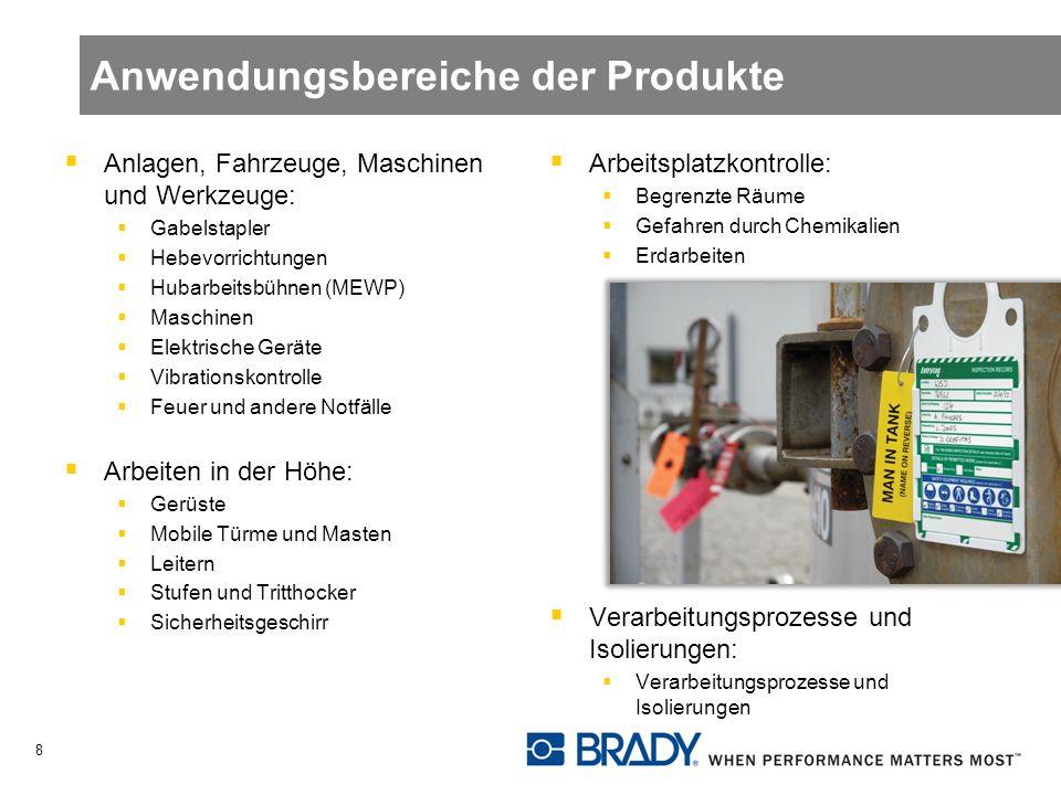 Anwendungsbereiche der Produkte