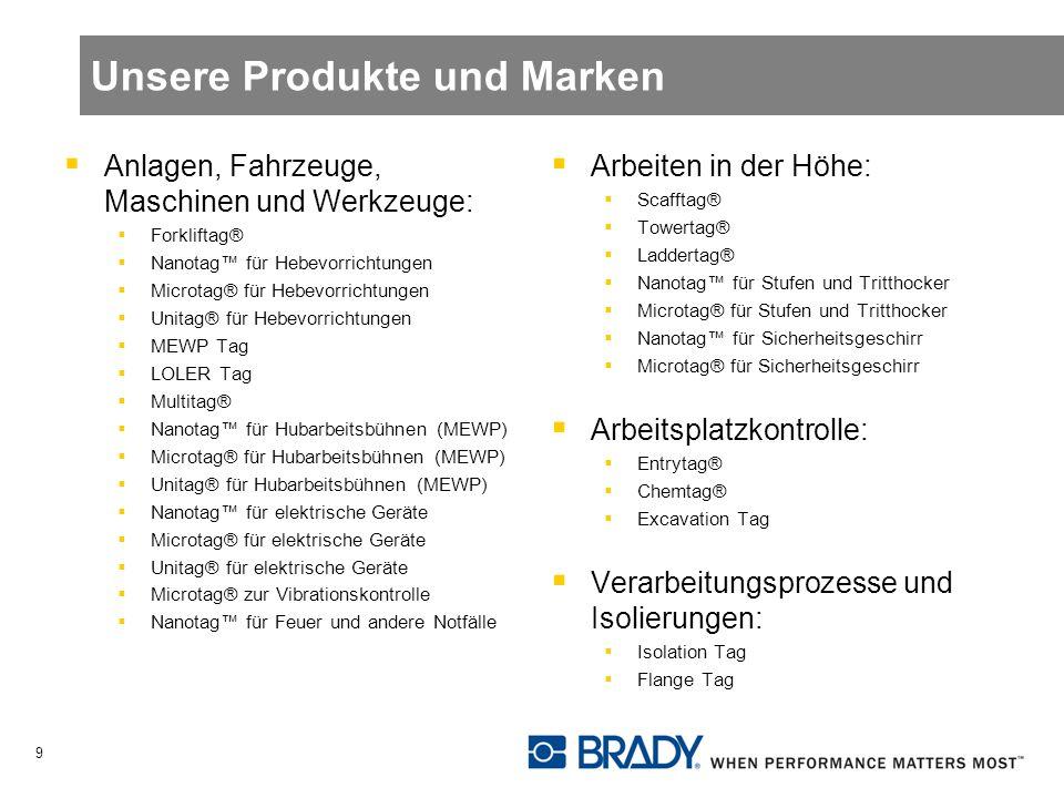 Unsere Produkte und Marken